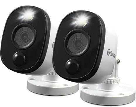 Swann Bullet Outdoor Wired Full HD Night-Vision Security Camera - Pack of 2, White