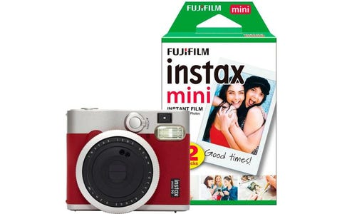 Fujifilm Instax Mini 90 Instant Camera Bundle including Case, Album & 30 Shots -  Red