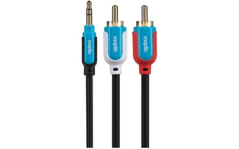 Maplin Premium 3.5mm Stereo 3 Pole Jack to Twin 2 Pole RCA Phono Cable - 5m