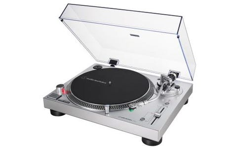 Audio-Technica AT-LP120XUSB Professional Direct-Drive Turntable Silver