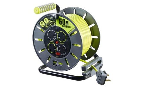 Masterplug 13A 4-Socket Extension Cable Reel - 50m