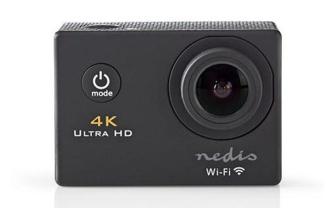 Nedis Ultra HD 4K WiFi Action Cam with Waterproof Case & Full Mounting Kits