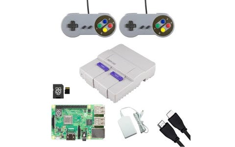 Pi Supply SNESPi Raspberry Pi Gaming Bundle with Retro Gamepads