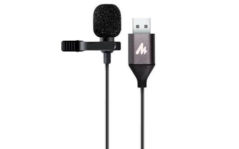 Maono Lavalier Clip On Lapel Microphone Omnidirectional USB Electret Condenser