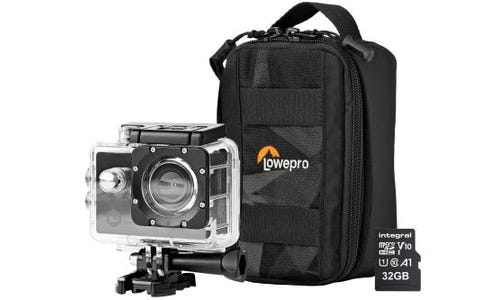 Nedis Full HD WiFi Action Cam inc Waterproof Case, Mounting Kits, LowePro Protective Bag & 32GB MicroSD