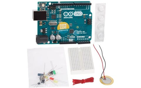 Franzis Arduino Tutorial Kit - Uno Board and 20 Components