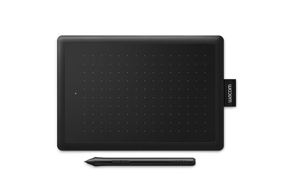 Wacom One (Small) Pen Graphics Tablet - Black    Red
