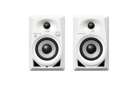 Pioneer DJ DM-40BTW Active Desktop Monitor Speakers with Bluetooth - White