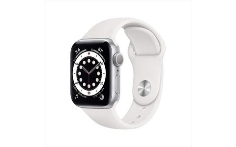 Apple GPS 40mm Watch Series 6 - Regular - Silver Aluminium Case with White Sport Band