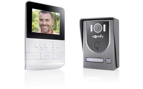 Somfy Videophone V100 Video Intercom System - White/Dark Grey