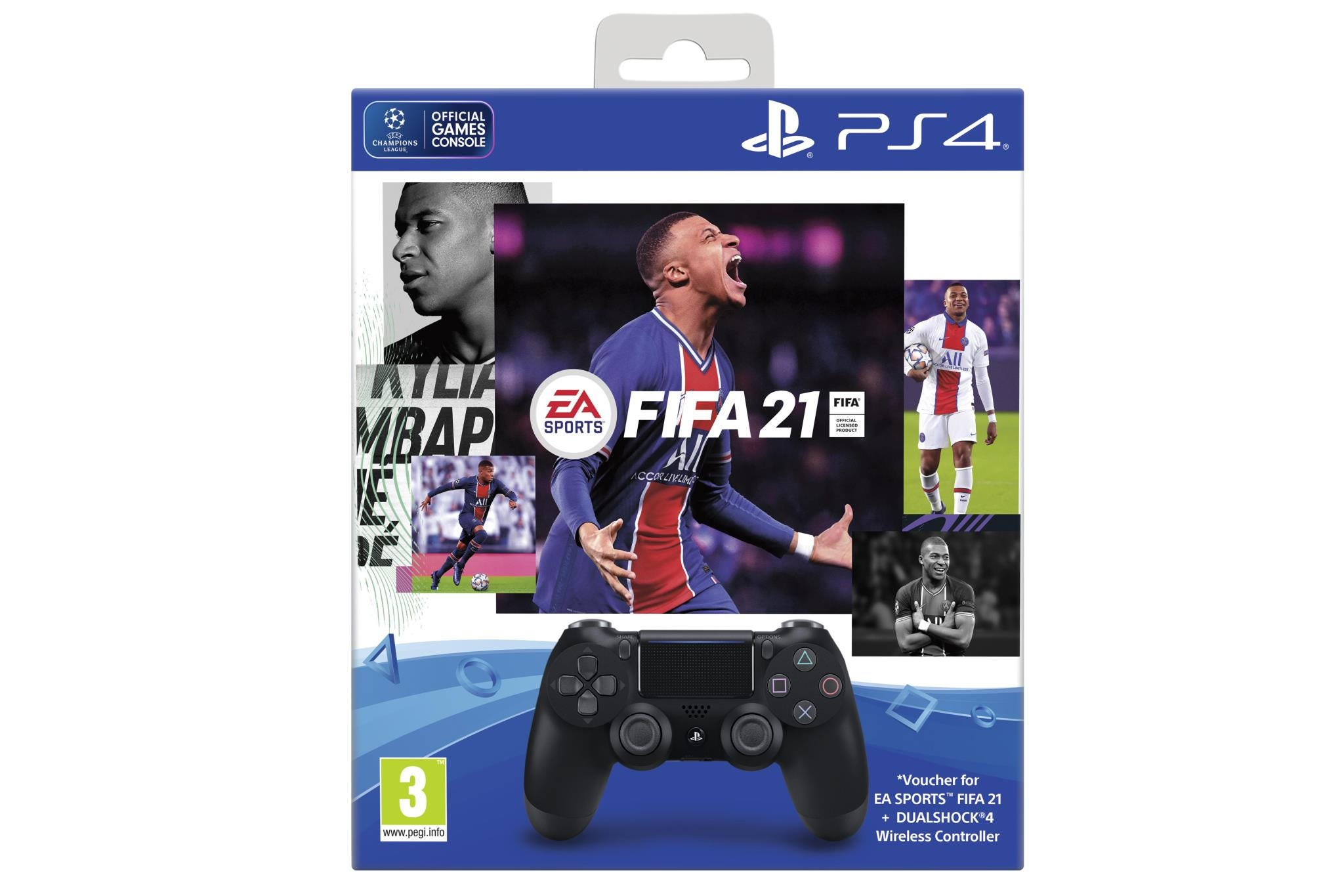 Sony PlayStation 4 DualShock Controller with FIFA 2021 Digital Download - Black