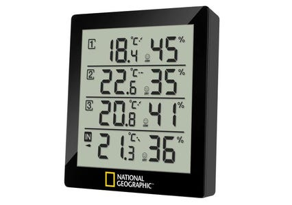 National Geographic Weather Station with 4 Measurement Results - Black