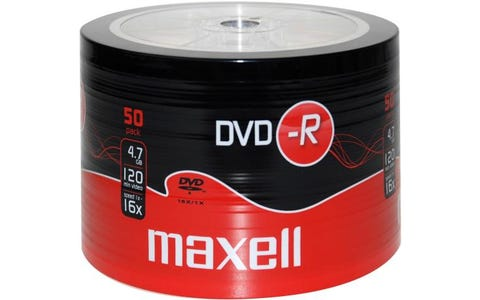 Maxell DVD-R Shrink Wrap (50 Pack)