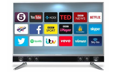 Ferguson FP43ANSMT 43 inch Android Smart TV with Integrated Sound Bar - Black