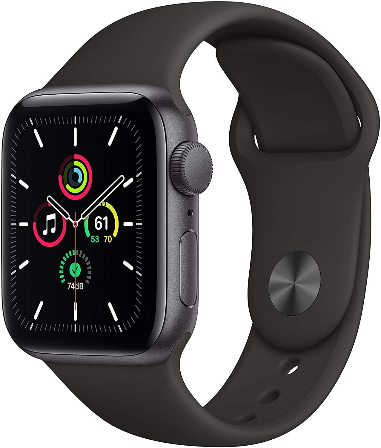 Apple GPS 40mm Watch SE - Regular -  Space Gray Aluminium Case with Black Sport Band