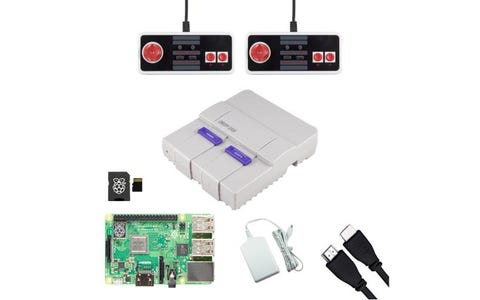 Pi Supply SNESPi Raspberry Pi Gaming Bundle with NES Classic USB Gamepads