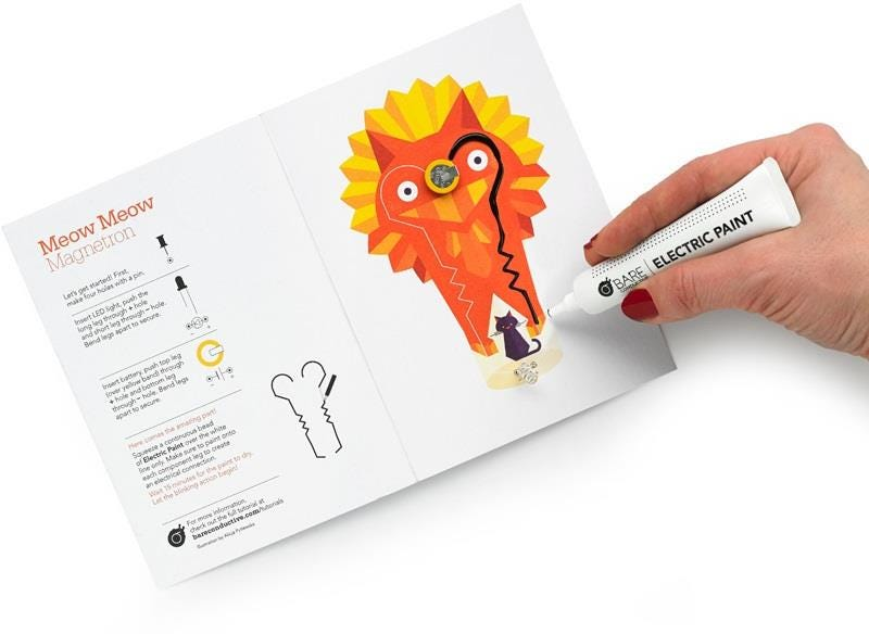 Bare Conductive Power Animals Flashing Card Set