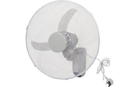"""Prem-i-air 18"""" Wall Fan with Remote - White"""