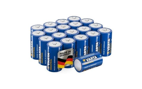 Varta Industrial Size C Alkaline Batteries (Pack of 20)