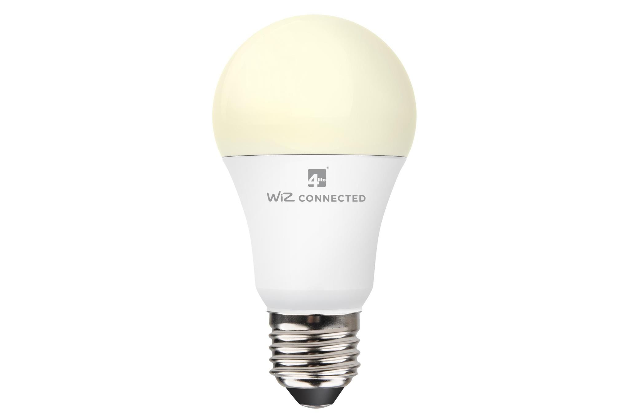 4lite WiZ Connected Classic A60 LED Smart Bulb White Dimmable WiFi E27 Screw