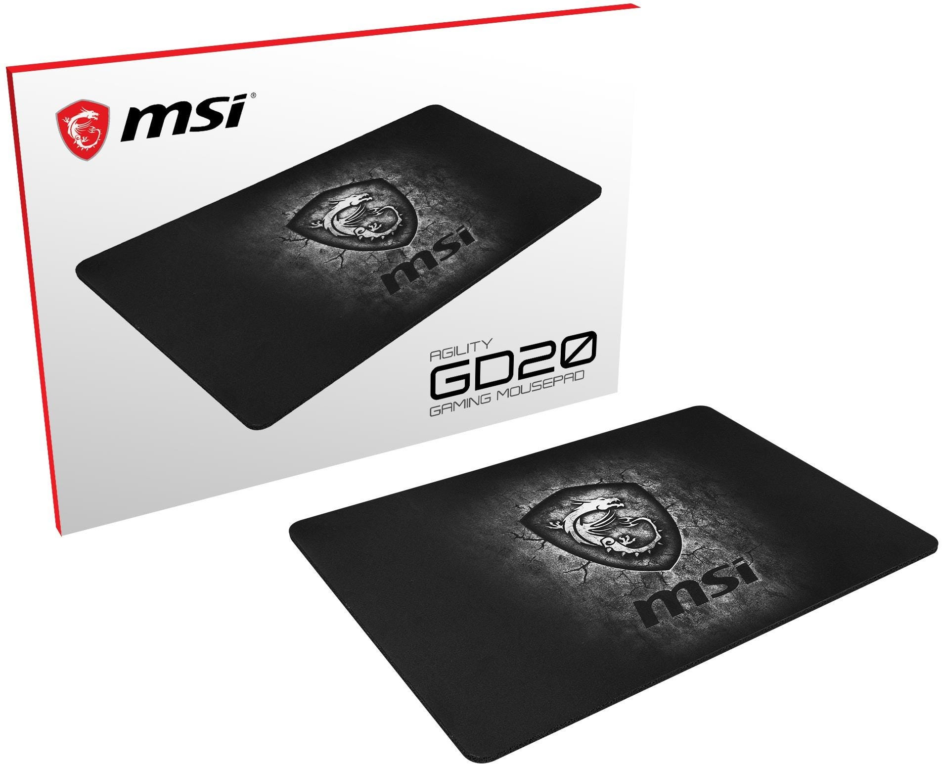 MSI Agility GD20 Pro Gaming Mouse Pad - Black