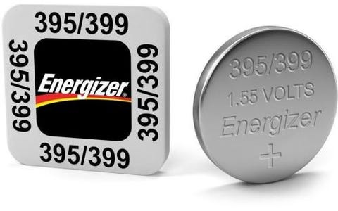Energizer SR57/S74 395/399 Silver Oxide Coin Battery 1.55 V 51mAh (Pack of 1)