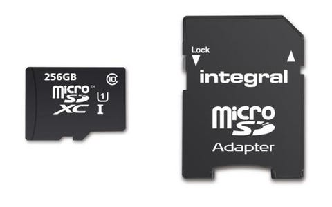Integral 256GB Smartphone/Tablet Class 10 MicroSDHC Memory Card