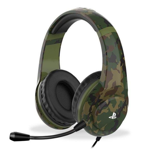 4Gamers PRO4-70CAMO Officially Licensed PS4 Stereo Gaming Headset - Woodland