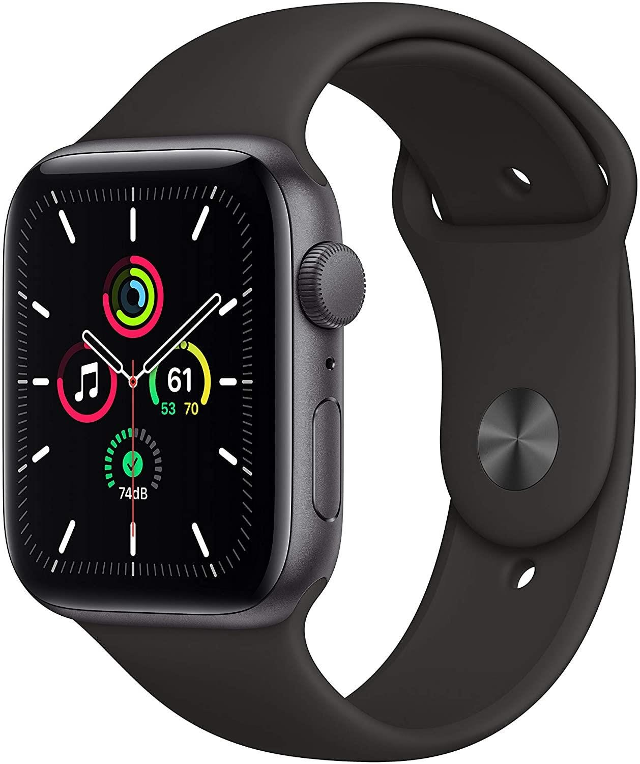 Apple GPS 44mm Watch SE - Regular - Space Gray Aluminium Case with Black Sport Band