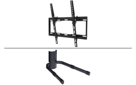 ProperAV Universal Tilting Wall Bracket for 32''-55'' TV inc DVD Sky Box Shelf
