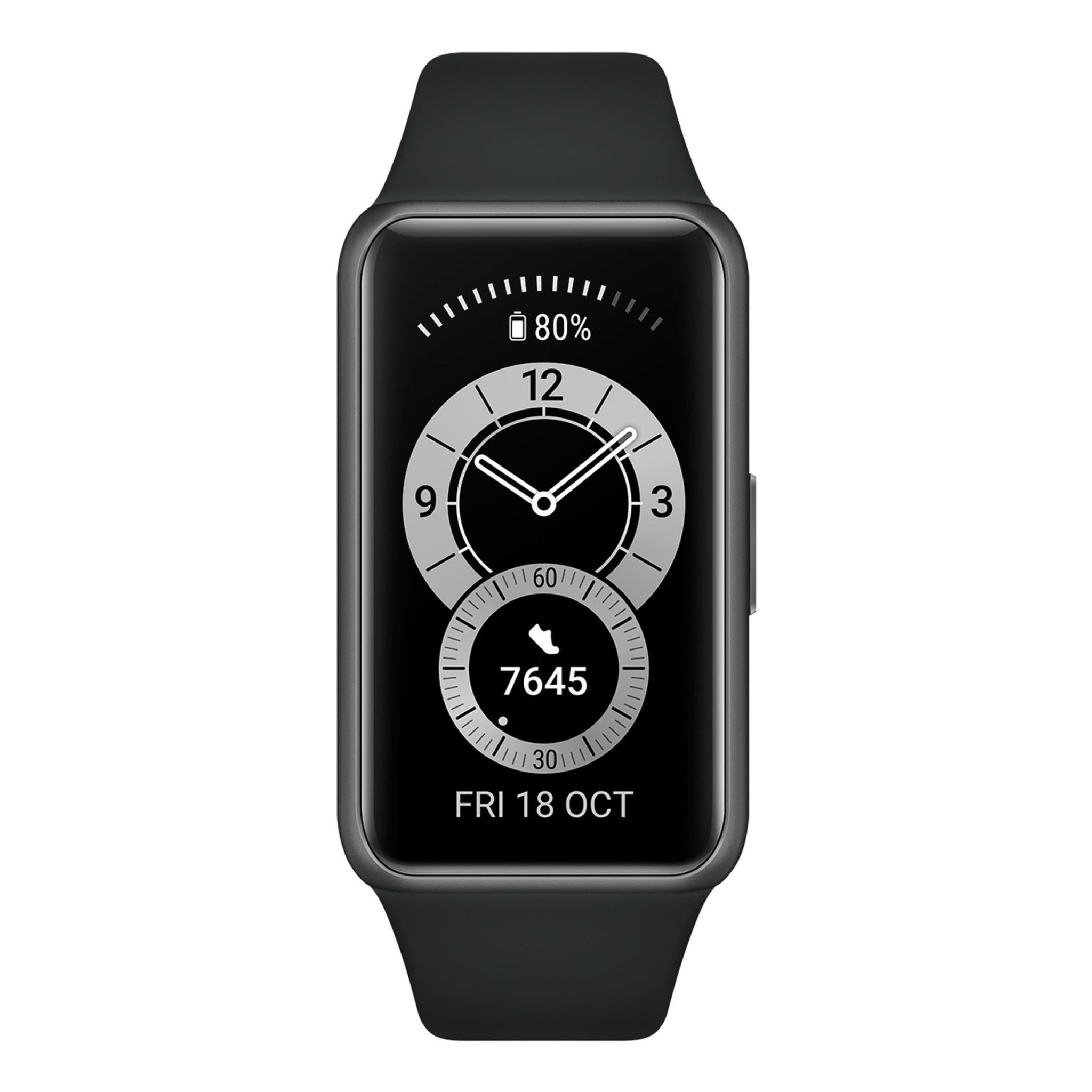Huawei Band 6 - Graphite Black with Silicone Strap, Universal