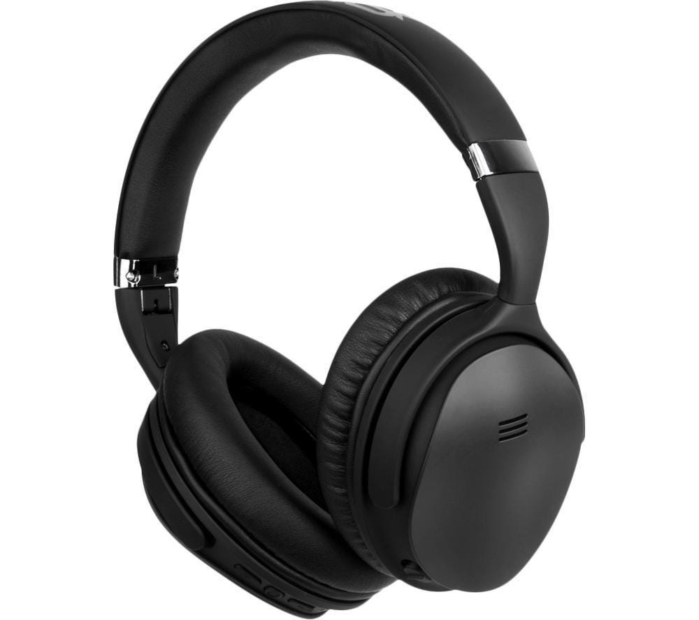 Volkano VK-2003-BK Silenco Wireless Bluetooth Noise-Cancelling Over-Ear Headphones - Black