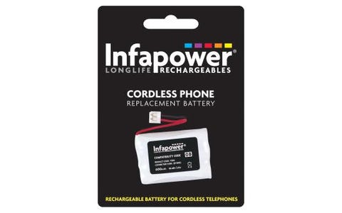 InfaPower Rechargeable Ni-MH Battery for Cordless Telephones (3x AAA Pack)
