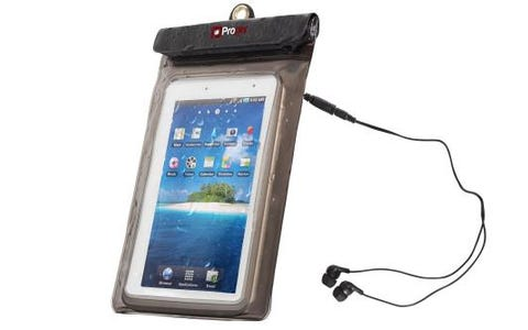 ProperAV Waterproof Case for 7 inch Tablets inc Waterproof Earphones