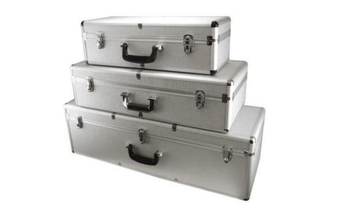 ROC Cases Flight Case Bundle Including 3 Cases - C401, C402 and C403 - Silver