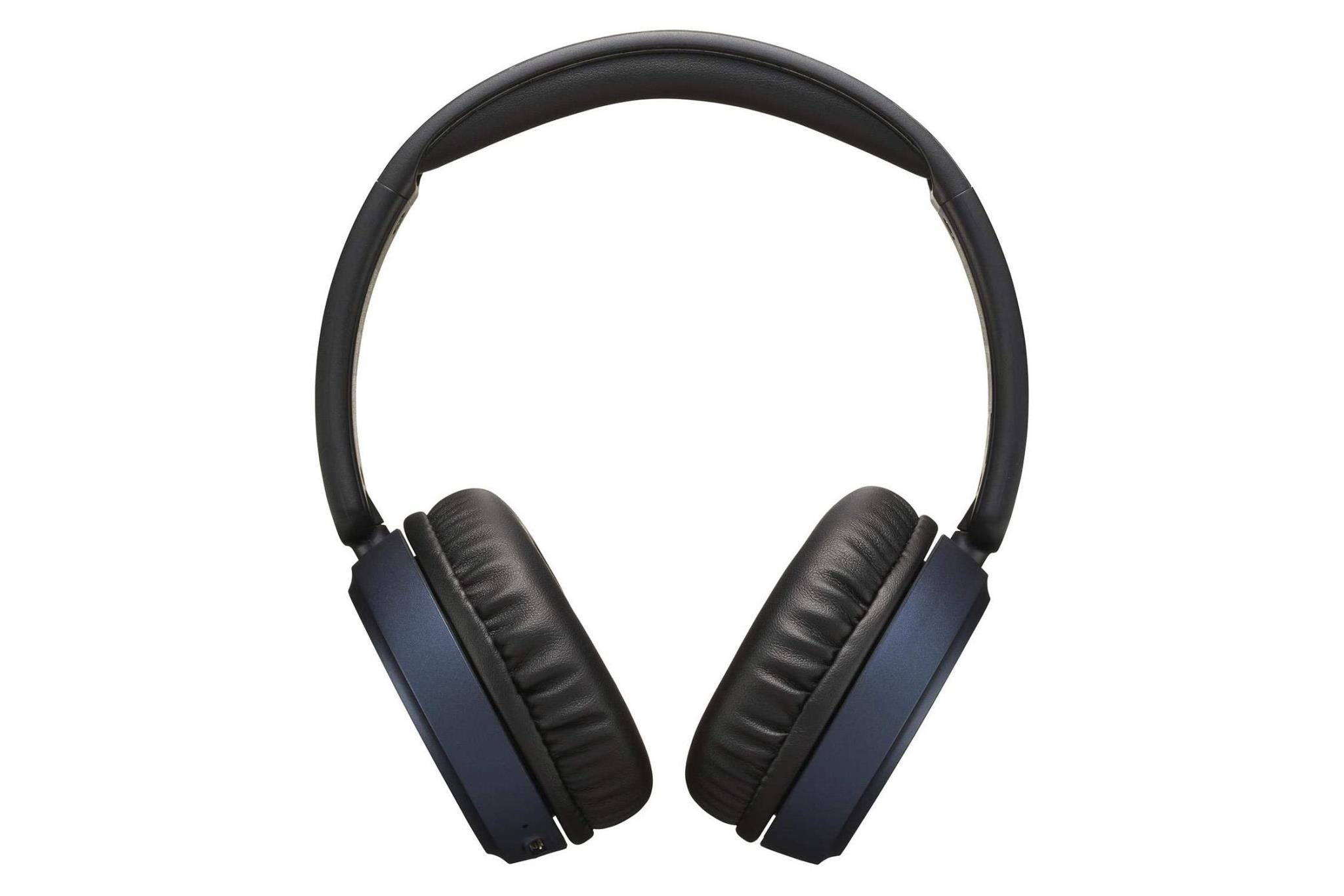 JVC HA-S65BN Superior Sound Wireless Bluetooth Noise-Cancelling Over-Ear Headphones - Blue