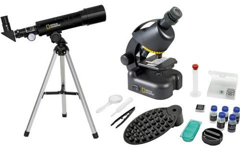 National Geographic Compact Telescope & Microscope with Smartphone Holder Kit
