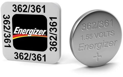 Energizer SR58/S40 362/361 Silver Oxide Coin Button Cell Battery (Pack of 10)
