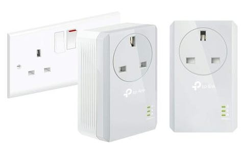 TP-Link TL-PA4010P AV600 Powerline Adapter Kit - White