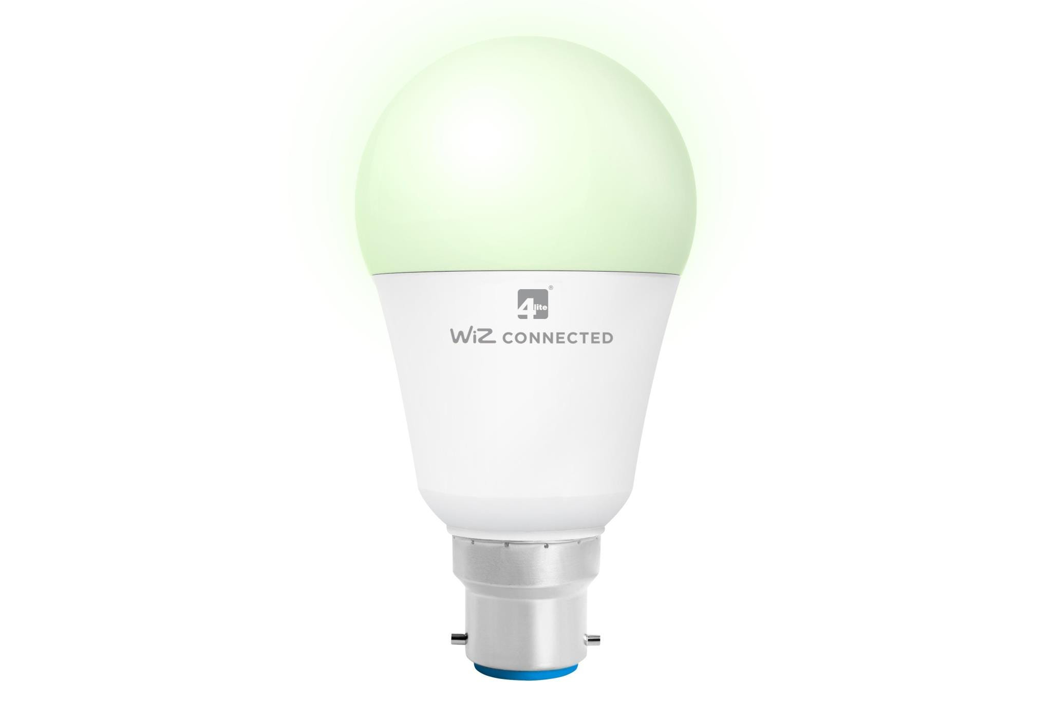 4lite WiZ Connected A60 Multicolour Dimmable WiFi/Bluetooth LED Smart Bulb - B22 Bayonet