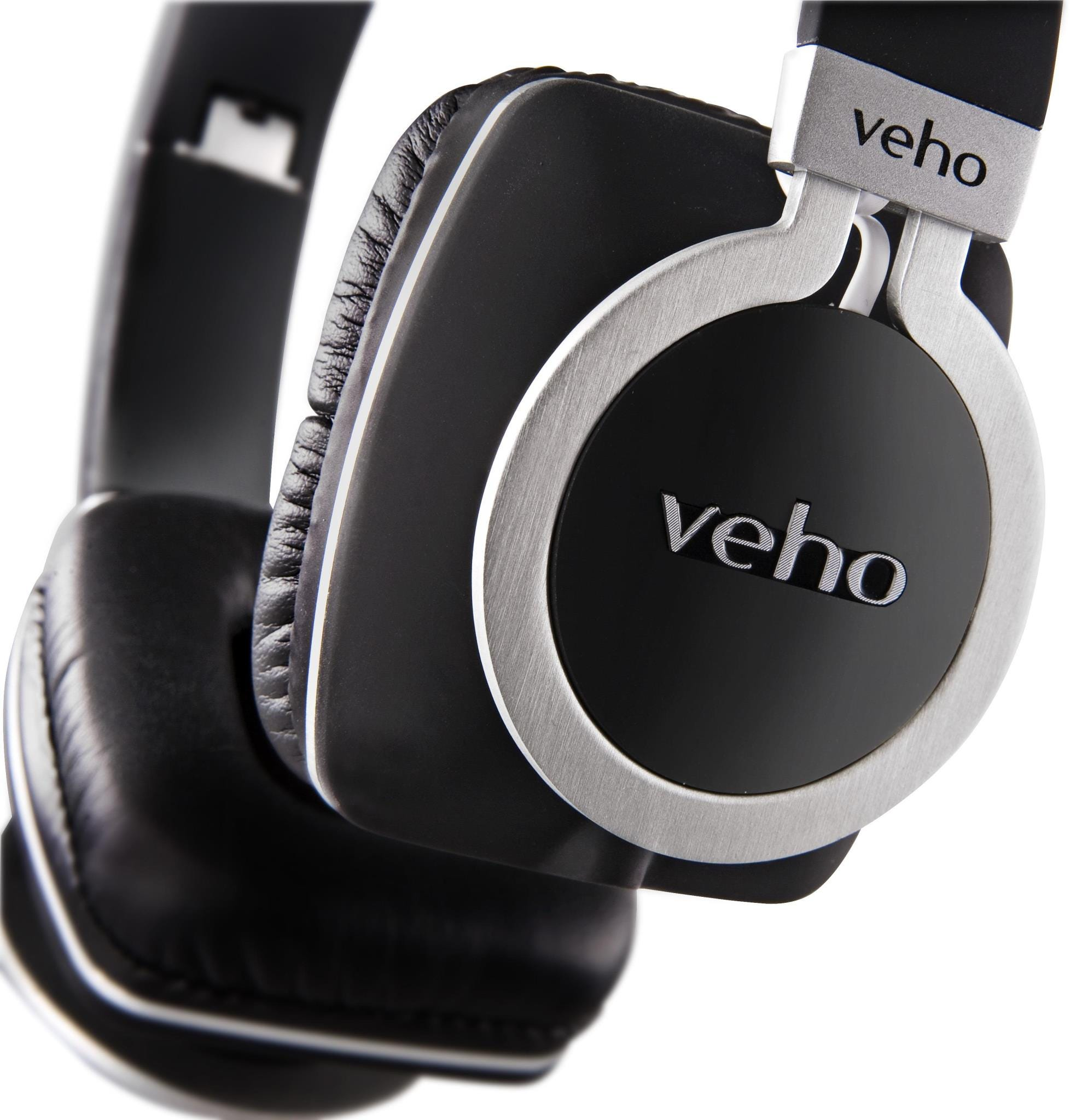 Veho Z-8 On-Ear Wired Headphones with Flex Anti-Tangle Cable