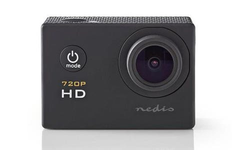 Nedis HD 720p Action Cam with Waterproof Case & Full Mounting Kits