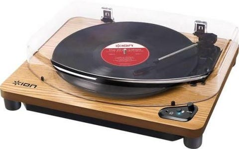 ION Air LP Wireless Streaming Turntable - Wood