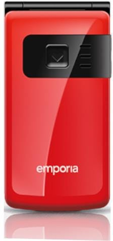 Emporia F220J Flip Basic Mobile Phone - Extra Large Keys and Colour Screen - Red