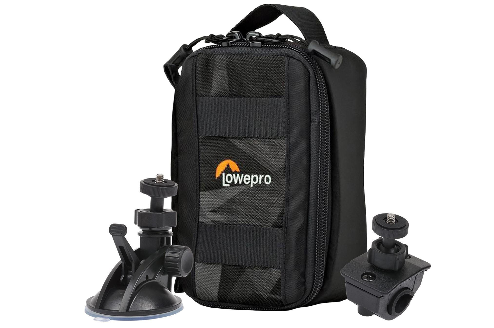 Lowepro ViewPoint CS 40 Action Cam Case + FREE Suction Mount    Cycle Mount