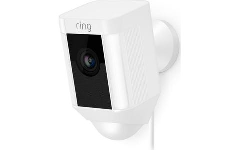 [Like New] Ring Spotlight Outdoor Wireless Full HD Night-Vision Security Camera - White