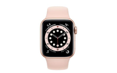 Apple Watch Series 6 GPS - Gold Aluminium Case with Pink Sand Sport Band, 40mm