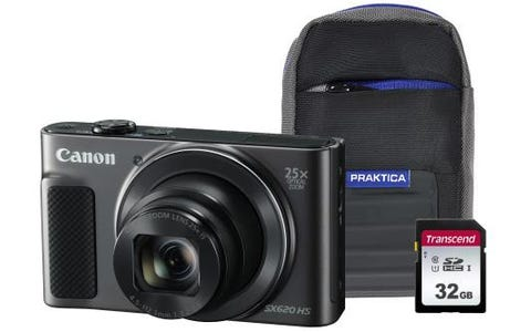 Canon PowerShot SX620 HS Camera Kit in 32GB SDHC Class 10 Card & Case - Black