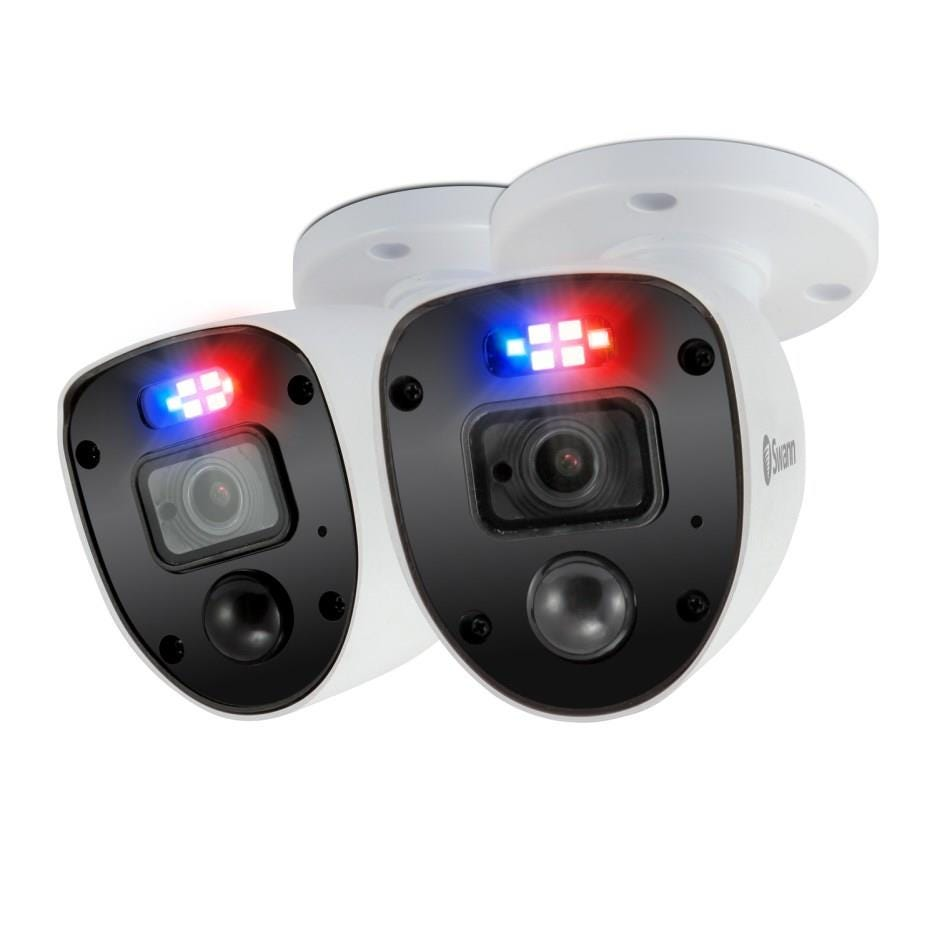 Swann Enforcer Indoor / Outdoor Wired Full HD Night-Vision Security Camera - Pack of 2, White