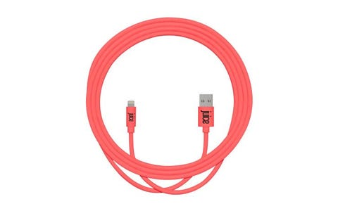 Juice Cable USB-A to Lightning Rounded Charge & Sync Cable (2m) -  Coral